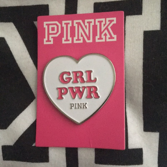 PINK Victoria's Secret Accessories - PINK Victoria's Secret GRL PWR pin